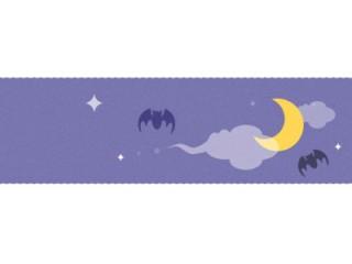 ハロウィン風 コウモリと月(12パターン)
