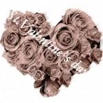 バレンタイン向け 薔薇でできたハート(5パターン)