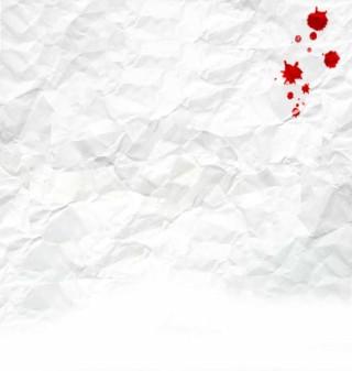血痕のような染みのあるしわくちゃの紙(2パターン)