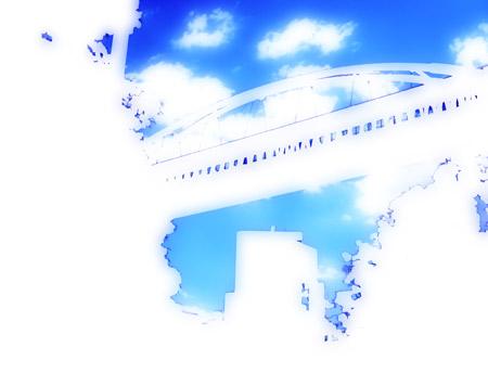 空中回廊の写真素材