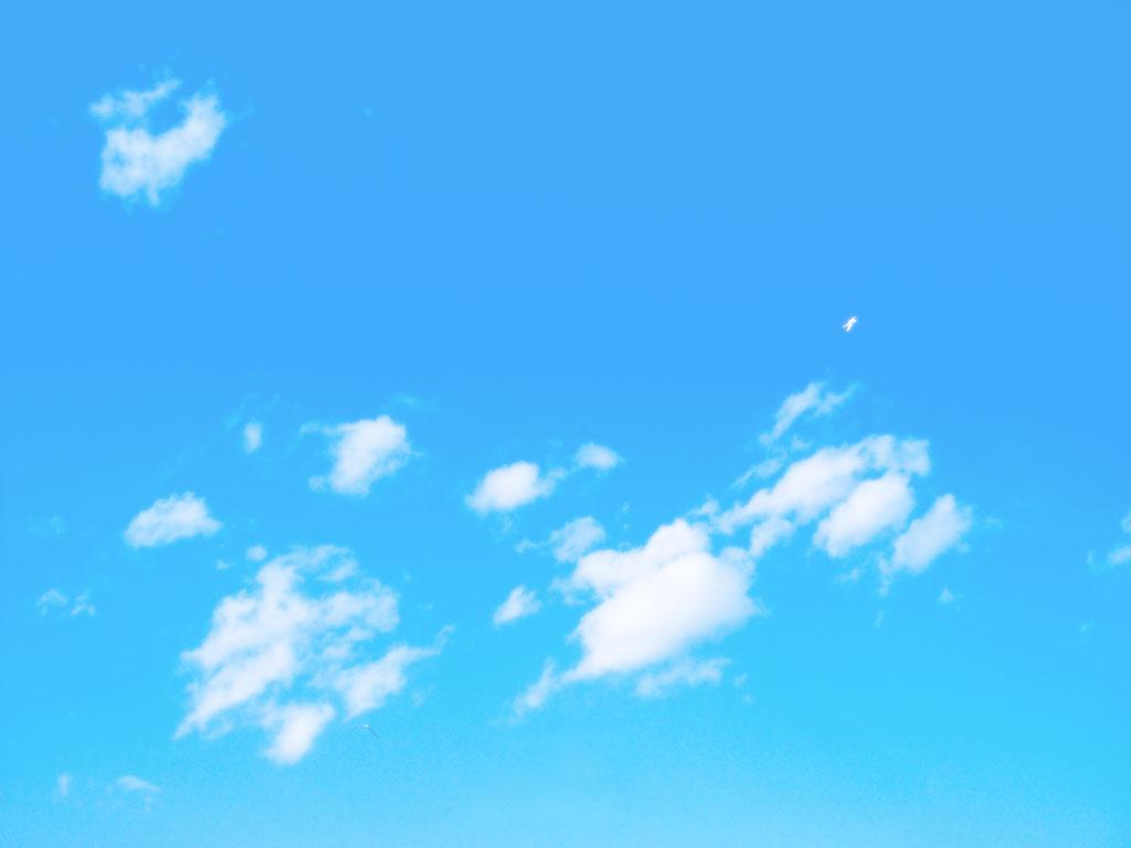 晴天とちぎれ雲