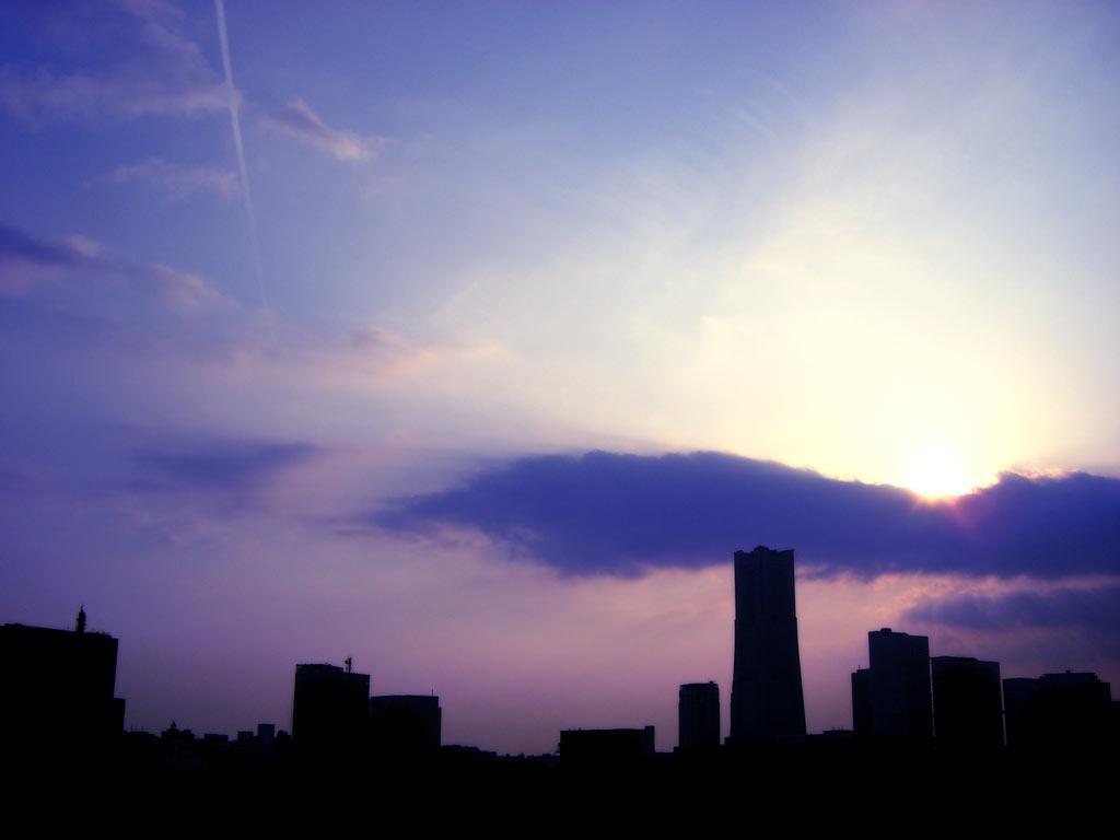 街並みと空の写真素材