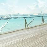 甲板から臨む港町 差分:日中/夕方/夜