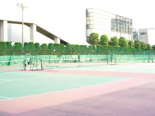 テニスコート 差分:日中/夕方/夜