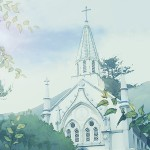 森の中の教会 差分:日中/夕方/夜