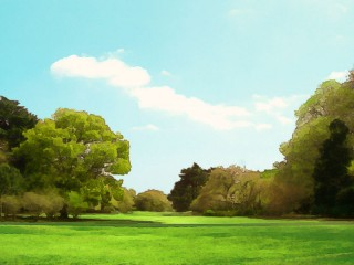 晴れた公園 差分:日中/夕方/夜
