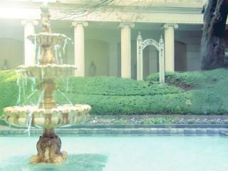 噴水のある屋敷 差分:日中/夕方/夜