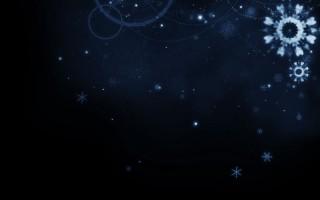 ノルディック風の雪の結晶と星空(8パターン)