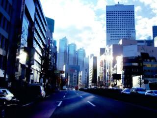 都会の街並み(遠景) 差分:日中/夕方/夜