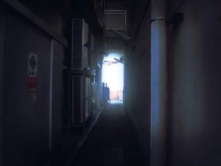 狭い路地裏 差分:日中/夕方/夜