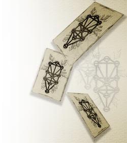 セフィロトの樹の描かれたカード(12パターン)