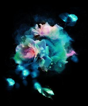 幻想的な水中花(9パターン)