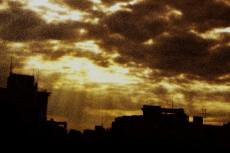 天使の階(きざはし)と街並みの写真素材