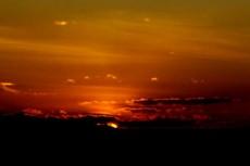 夕陽の写真素材