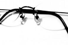 ノンフレーム眼鏡の写真素材
