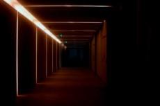 光る通路の写真素材