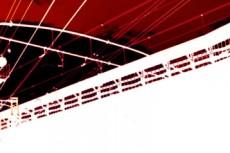 赤い空と電線