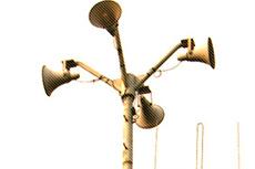 メガホンとアンテナの写真素材
