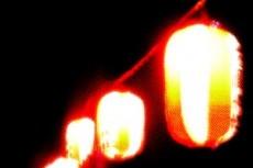 赤い提灯の写真素材