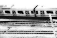 電車と線路の写真素材