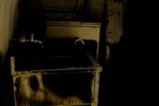 廃屋の洗面台