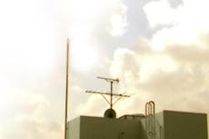 塔屋と空の写真素材