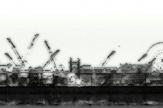 工業地帯と観覧車の写真素材
