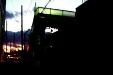 歩道橋の写真素材