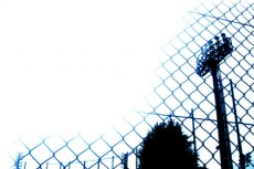 ナイター塔の写真素材