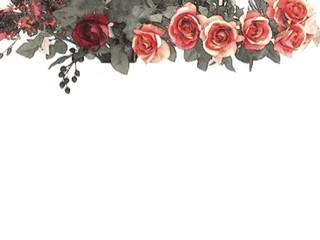 水彩画風のアンティークな薔薇(4パターン)