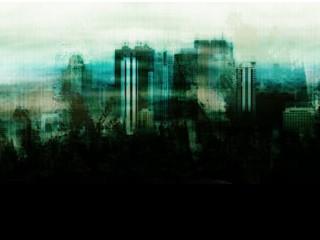 薄汚れた雰囲気の街並み(4パターン)