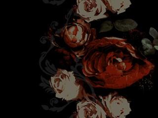 アンティークな雰囲気の薔薇(4パターン)