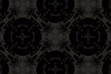 円と十字のゴシックな雰囲気の幾何学模様(4パターン)