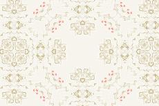 アンティーク風の幾何学模様(4パターン)