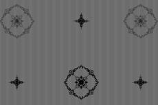 モダンな雰囲気の花とストライプの壁紙(4パターン)