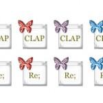ガラスのような質感の蝶のweb拍手ボタン(透過GIF)(6パターン)