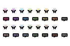 アウトラインが点滅するweb拍手アイコン(GIFアニメ)(透過GIF)(28パターン)