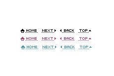シンプルなナビボタン(9パターン)(透過GIF)