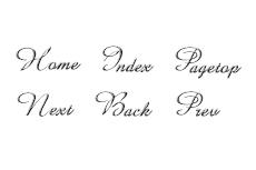 筆記体のエレガントなナビボタン(6パターン)
