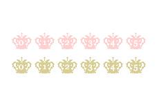 王冠のカウンタ(透過GIF)(5パターン)