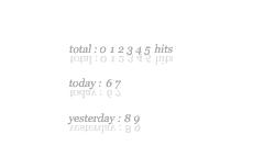 文字が反射するカウンタ(8パターン)