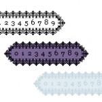 ゴシックな雰囲気のレーシーなカウンタ(透過GIF)(19パターン)