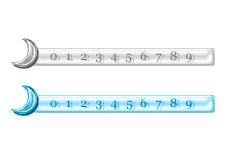 三日月がワンポイントのカウンタ(4パターン)