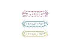 エレガントな雰囲気のレーシーなカウンタ(透過GIF)(9パターン)
