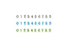 ガラスのような質感のカウンタ(12パターン)