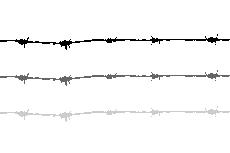 有刺鉄線の区切り線(透過GIF)(4パターン)