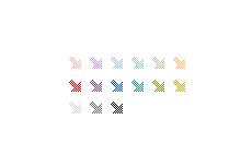 斜め方向のドットの矢印(透過GIF)(4パターン)