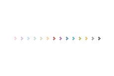 シンプルなくの字型の矢印アイコン(透過GIF)(4パターン)
