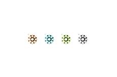 フォークロア調のワンポイント(4パターン)