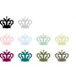 十字のついた王冠のアイコン(透過GIF)(11パターン)